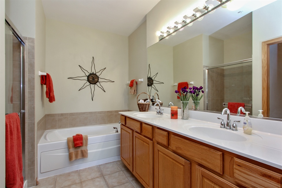 Real Estate Photography - 1034 Orchard Pond Ct, Lake Zurich, IL, 60047 - Master Bathroom
