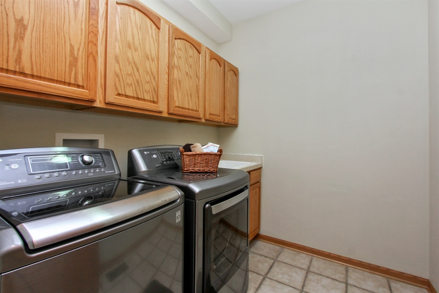Real Estate Photography - 1034 Orchard Pond Ct, Lake Zurich, IL, 60047 - Laundry Room