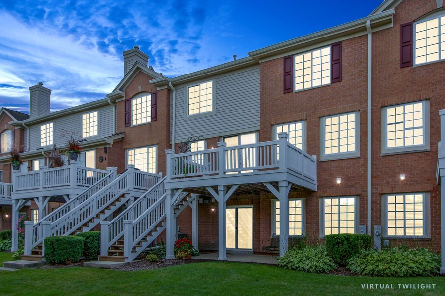 Real Estate Photography - 1034 Orchard Pond Ct, Lake Zurich, IL, 60047 - Rear View