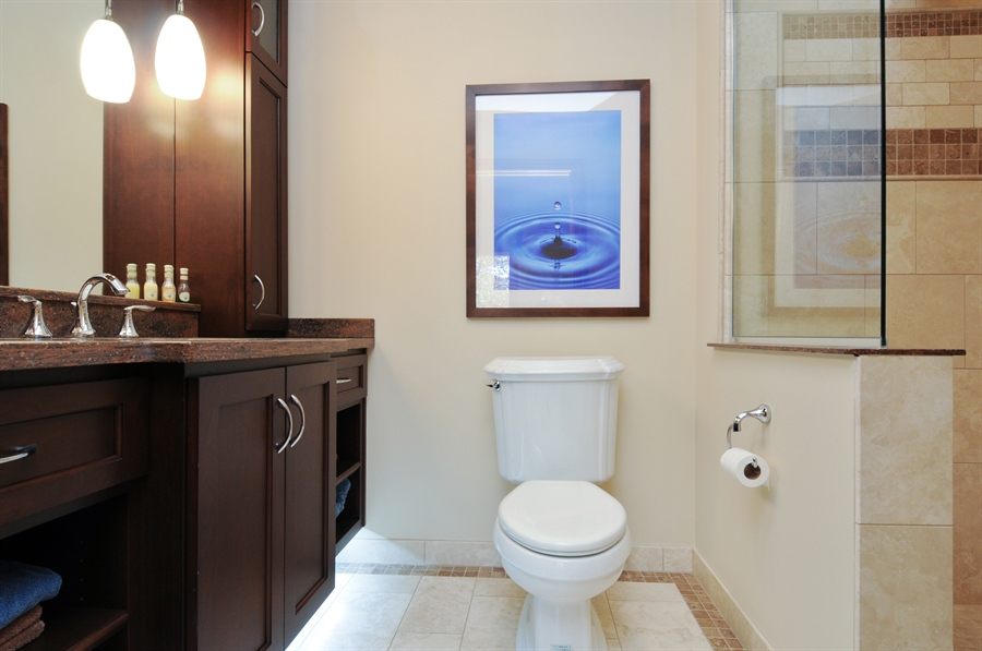 Real Estate Photography - 12461 BRIGHTON Lane, Plainfield, IL, 60585 - Bathroom part of private suite first floor