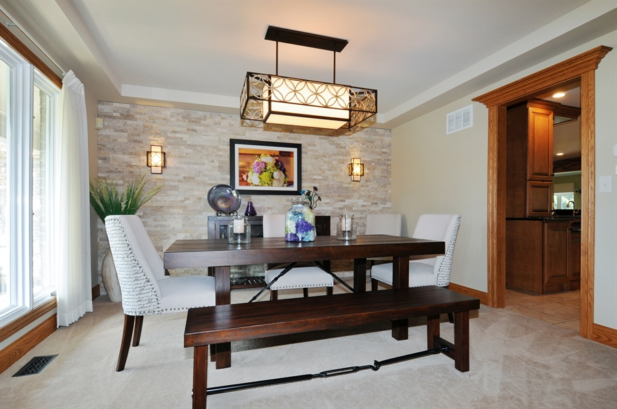 Real Estate Photography - 12461 BRIGHTON Lane, Plainfield, IL, 60585 - Dining Room