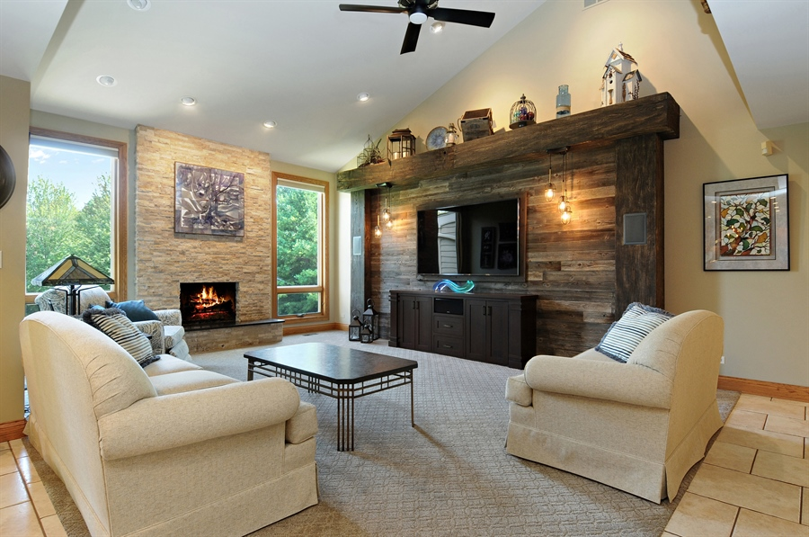 Real Estate Photography - 12461 BRIGHTON Lane, Plainfield, IL, 60585 - Family Room
