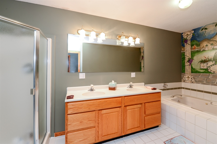 Real Estate Photography - 5695 S. Park Place Drive, Rochelle, IL, 61068 - Master Bathroom