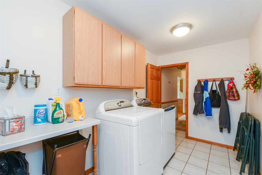 Real Estate Photography - 5695 S. Park Place Drive, Rochelle, IL, 61068 - Laundry Room