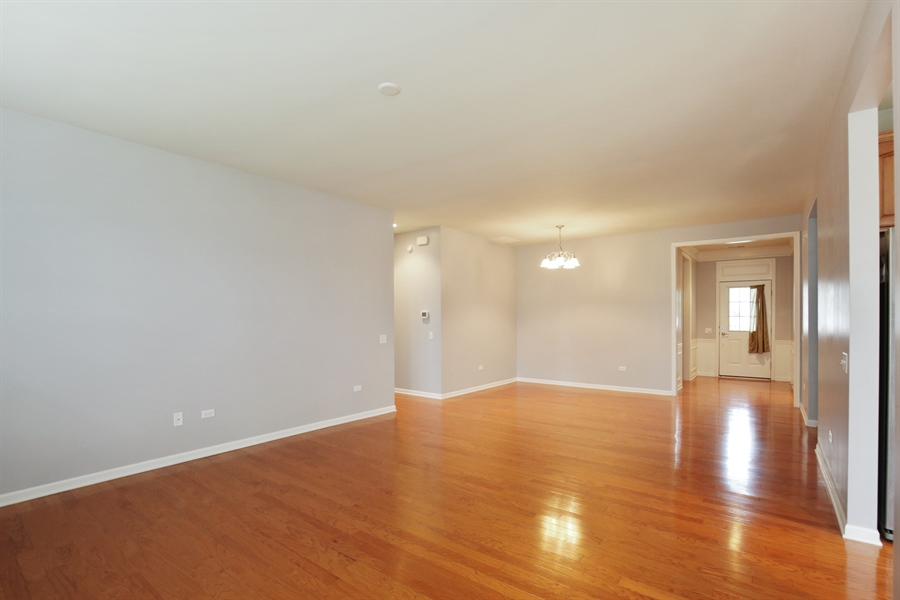 Real Estate Photography - 2839 Edgewater Drive, Elgin, IL, 60124 - LIVING ROOM--Gleaming hardwood floors!