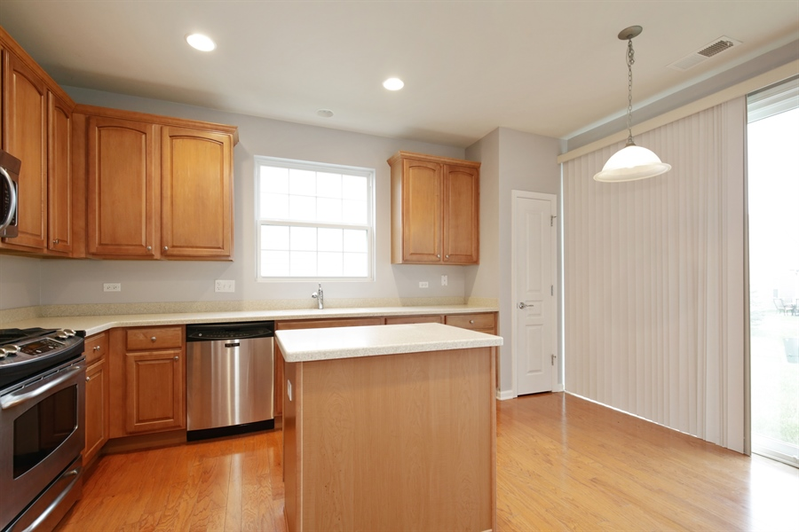 Real Estate Photography - 2839 Edgewater Drive, Elgin, IL, 60124 - KITCHEN--All stainless steel appliances!