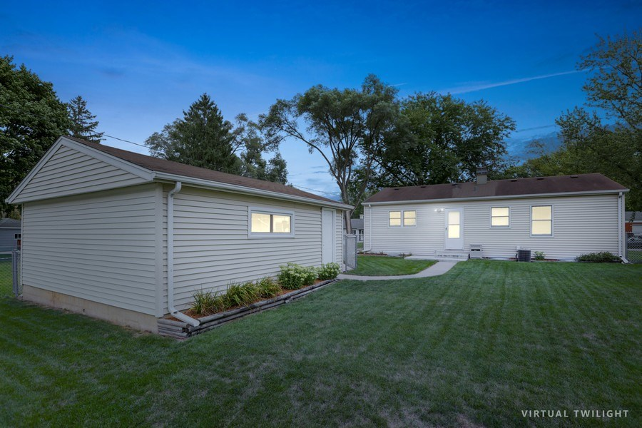 Real Estate Photography - 302 Rosewood Avenue, Buffalo Grove, IL, 60089 - Rear View