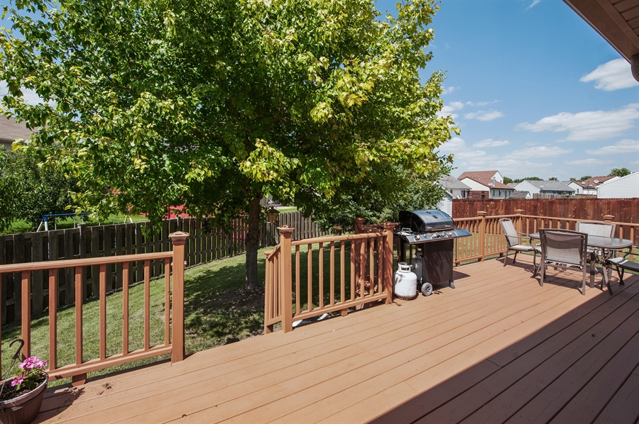 Real Estate Photography - 809 ROSE Lane, Harvard, IL, 60033 - Deck