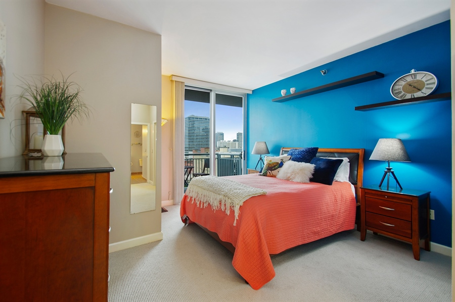 Real Estate Photography - 421 W. Huron Street, Unit 1001, Chicago, IL, 60654 - Master Bedroom