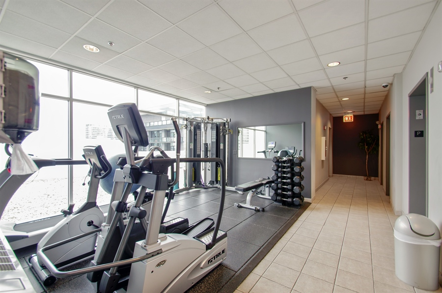 Real Estate Photography - 421 W. Huron Street, Unit 1001, Chicago, IL, 60654 - Exercise Room