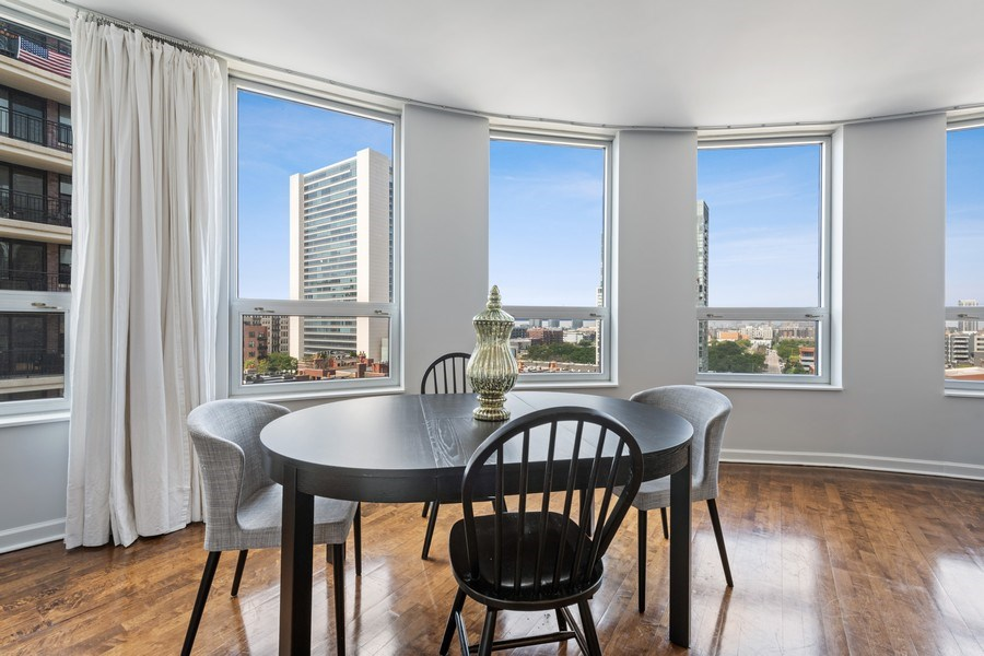 Real Estate Photography - 421 W. Huron Street, Unit 1001, Chicago, IL, 60654 - Dining Room