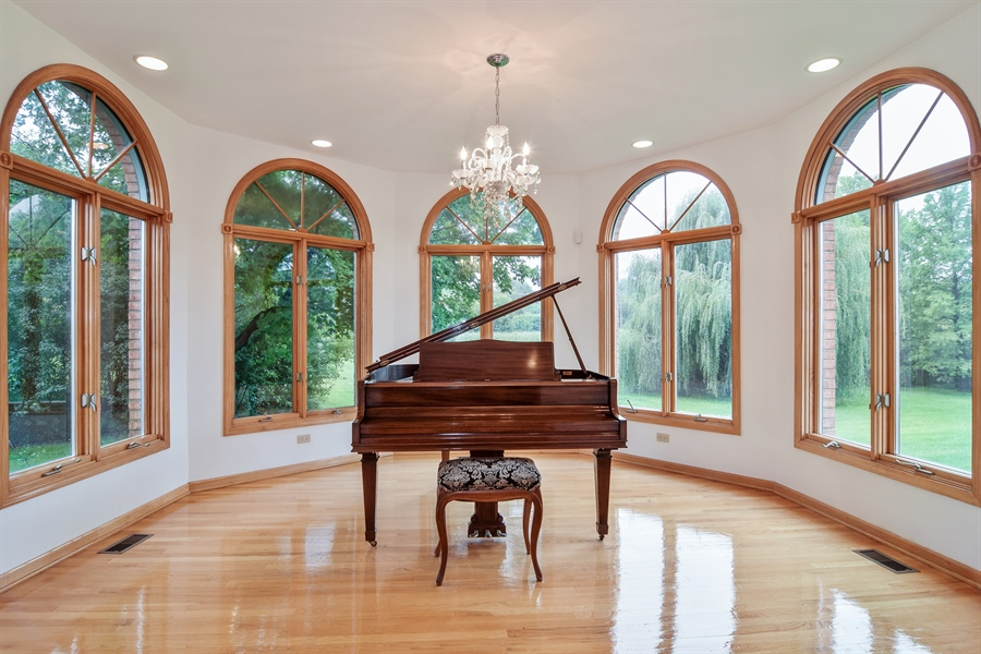 Real Estate Photography - 427 Lauder Ln, Inverness, IL, 60067 - Den/Music Room