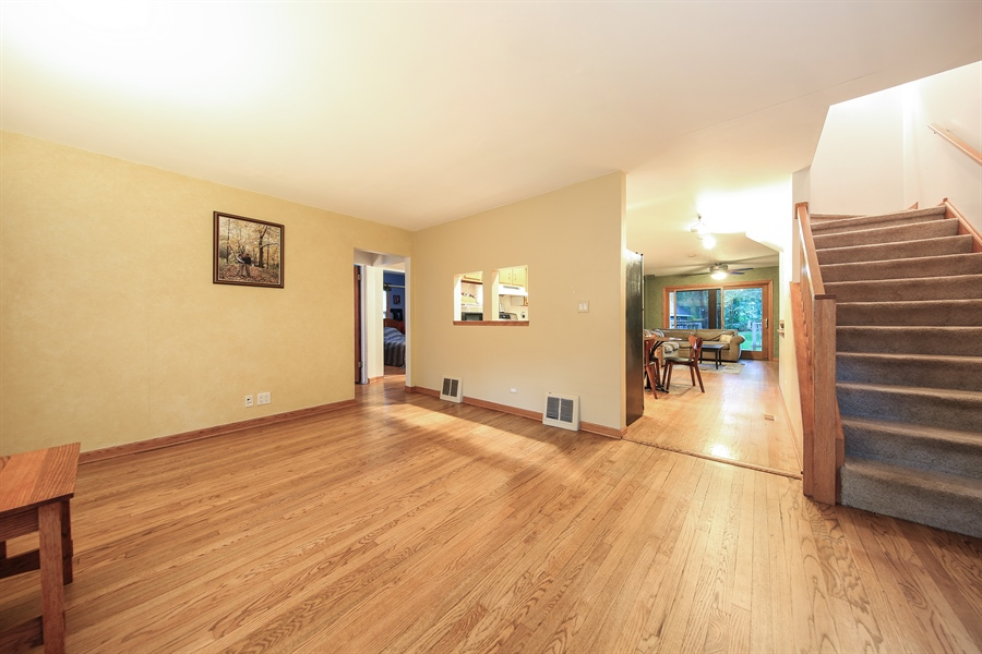 Real Estate Photography - 5629 Brookbank Road, Downers Grove, IL, 60516 - Living Room