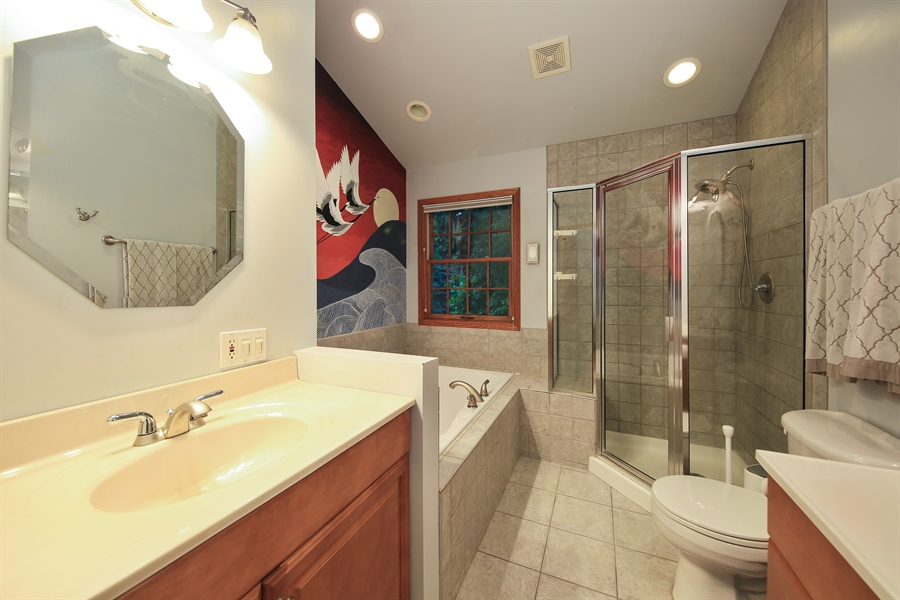 Real Estate Photography - 5629 Brookbank Road, Downers Grove, IL, 60516 - Master Bathroom