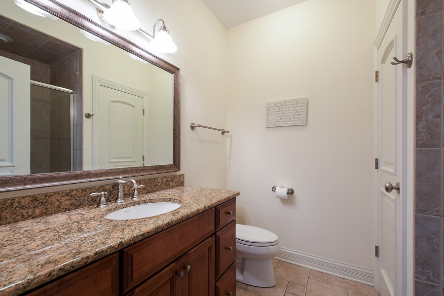 Real Estate Photography - 20961 W. Lakeview Parkway, Mundelein, IL, 60060 - 3rd Bathroom