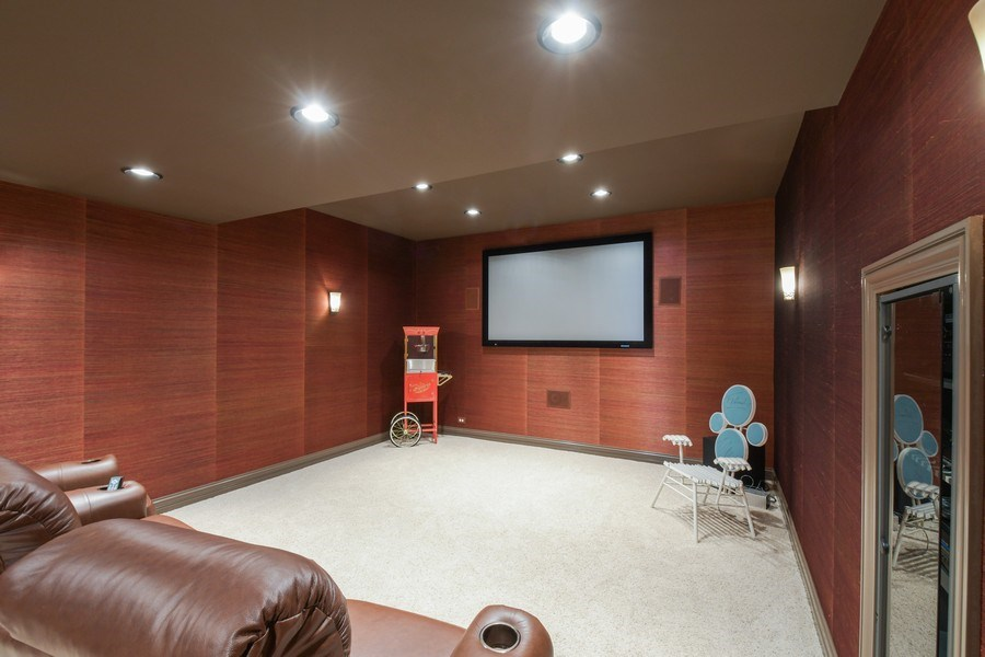 Real Estate Photography - 20961 W. Lakeview Parkway, Mundelein, IL, 60060 - Media Room