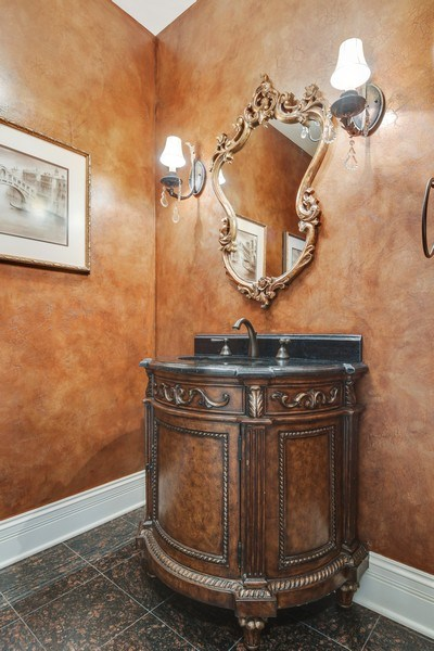 Real Estate Photography - 20961 W. Lakeview Parkway, Mundelein, IL, 60060 - Powder Room