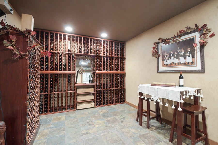 Real Estate Photography - 20961 W. Lakeview Parkway, Mundelein, IL, 60060 - Wine Cellar