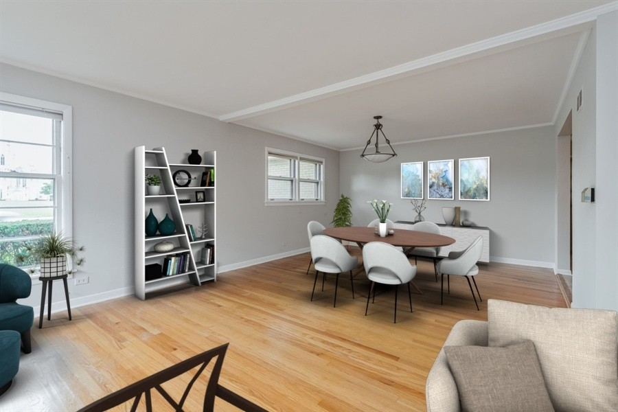 Real Estate Photography - 4618 W. Devon Avenue, Lincolnwood, IL, 60712 - Dining room Staged