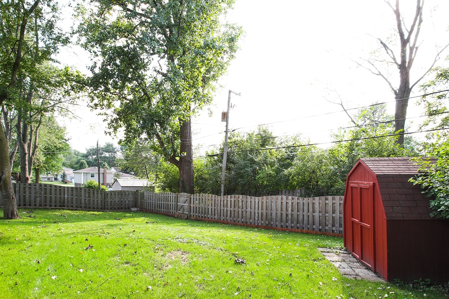 Real Estate Photography - 220 Briar Lane, Lindenhurst, IL, 60046 - PRIVATE FULLY FENCED BACKYARD W/LARGE SHED