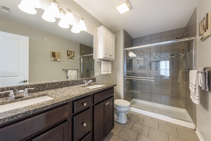 Real Estate Photography - 409 Lexington Lane, Rolling Meadows, IL, 60008 - Master Bathroom