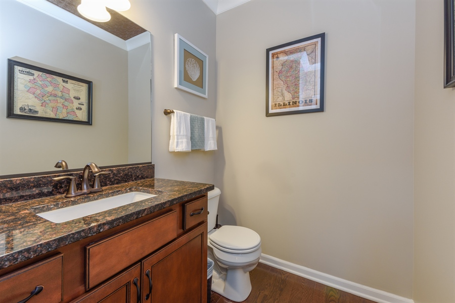 Real Estate Photography - 409 Lexington Lane, Rolling Meadows, IL, 60008 - Powder Room