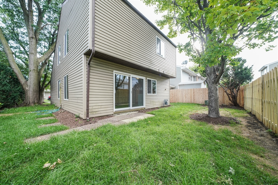 Real Estate Photography - 313 Beechwood Drive, Romeoville, IL, 60446 - Rear View