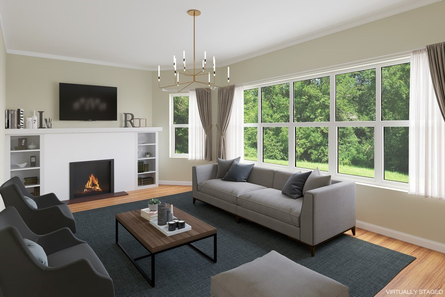 Real Estate Photography - 7038 35th Street, Berwyn, IL, 60402 - Living Room