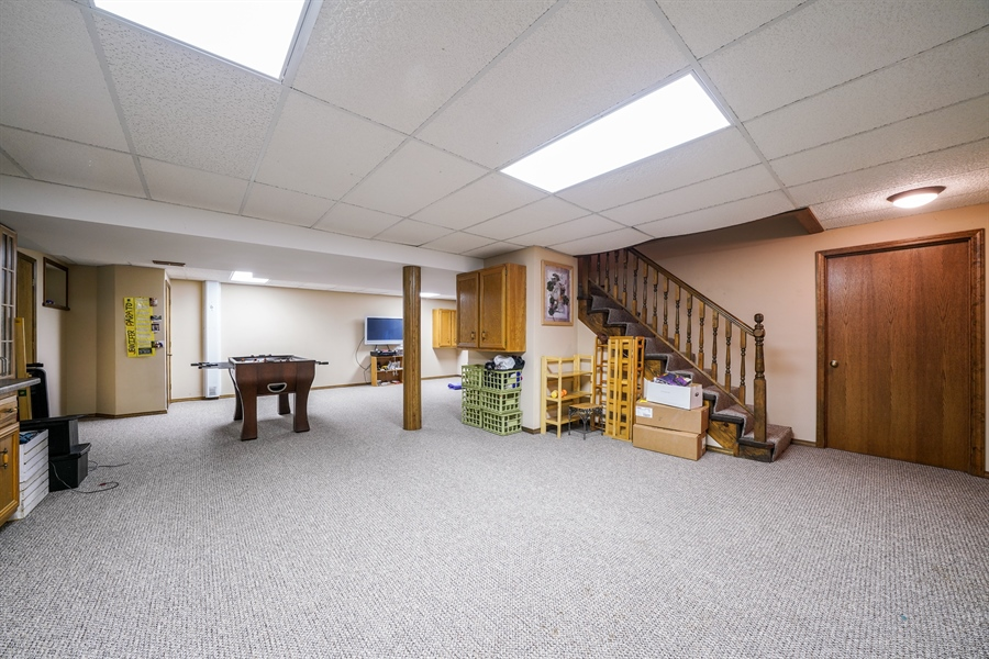 Real Estate Photography - 1278 Keim Trail, Bartlett, IL, 60103 - Finished Basement