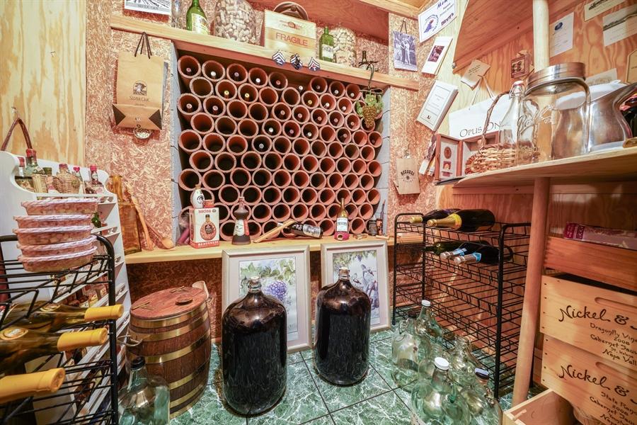 Real Estate Photography - 1278 Keim Trail, Bartlett, IL, 60103 - Wine Cellar