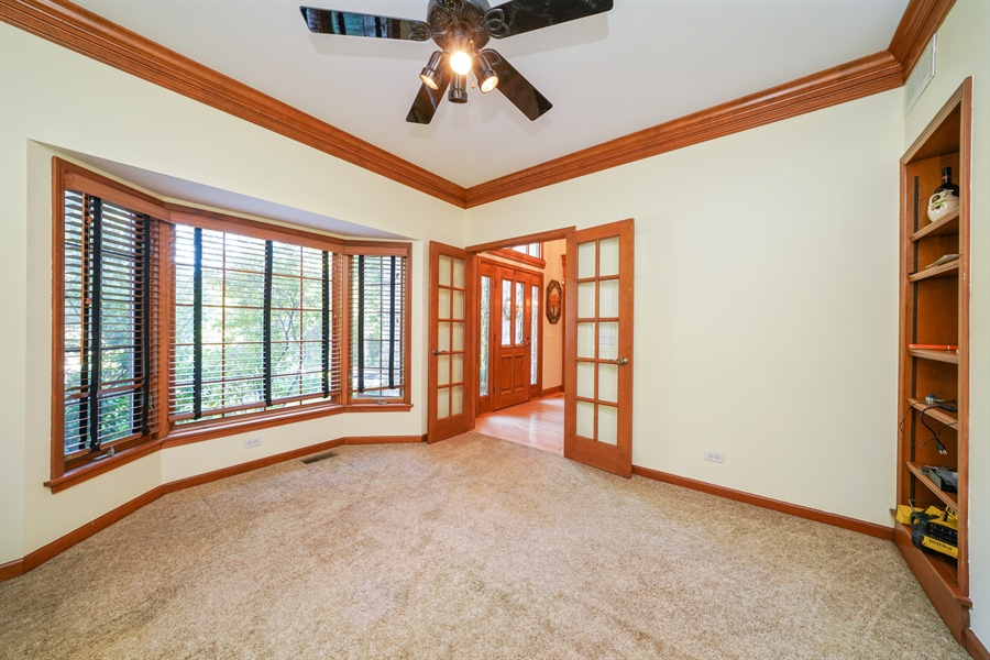 Real Estate Photography - 1278 Keim Trail, Bartlett, IL, 60103 - 1st Floor Bedroom/Office