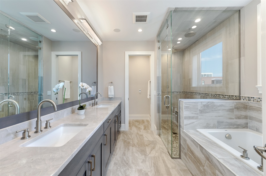 Real Estate Photography - 1330 W. School Street, Chicago, IL, 60657 - Master Bathroom