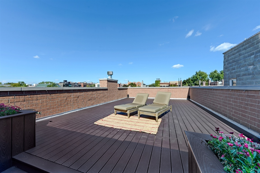 Real Estate Photography - 1330 W. School Street, Chicago, IL, 60657 - Roof Deck