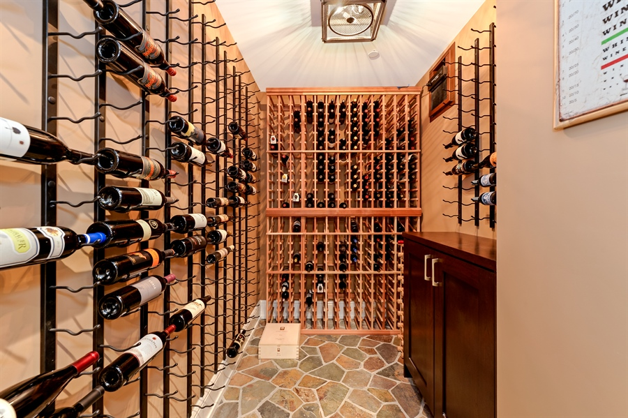 Real Estate Photography - 1330 W. School Street, Chicago, IL, 60657 - Wine Cellar