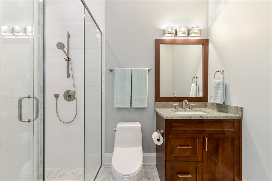 Real Estate Photography - 1330 W. School Street, Chicago, IL, 60657 - 2nd Bathroom