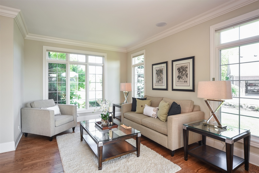Real Estate Photography - 22220 N. PRAIRIE Lane, Kildeer, IL, 60047 - Living Room