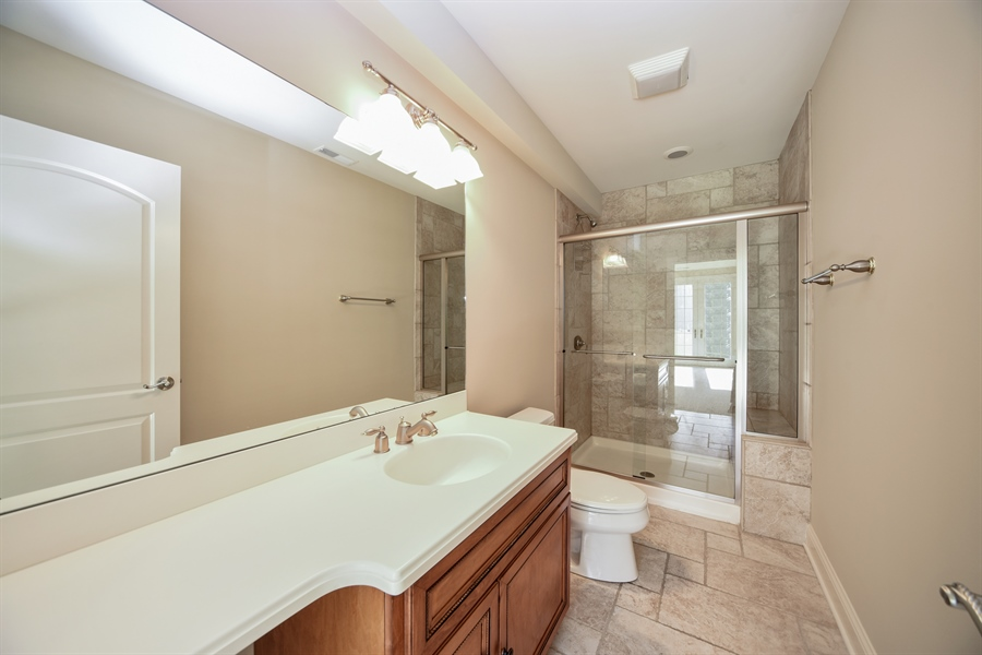 Real Estate Photography - 22220 N. PRAIRIE Lane, Kildeer, IL, 60047 - Lower level full bath