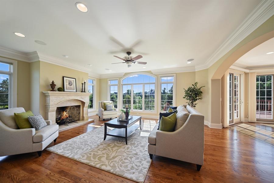 Real Estate Photography - 22220 N. PRAIRIE Lane, Kildeer, IL, 60047 - Family Room