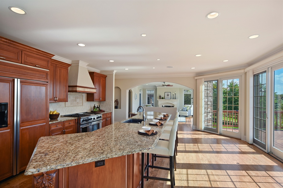 Real Estate Photography - 22220 N. PRAIRIE Lane, Kildeer, IL, 60047 - Kitchen