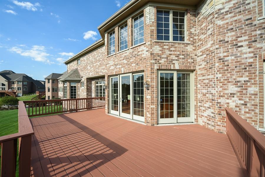 Real Estate Photography - 22220 N. PRAIRIE Lane, Kildeer, IL, 60047 - Deck