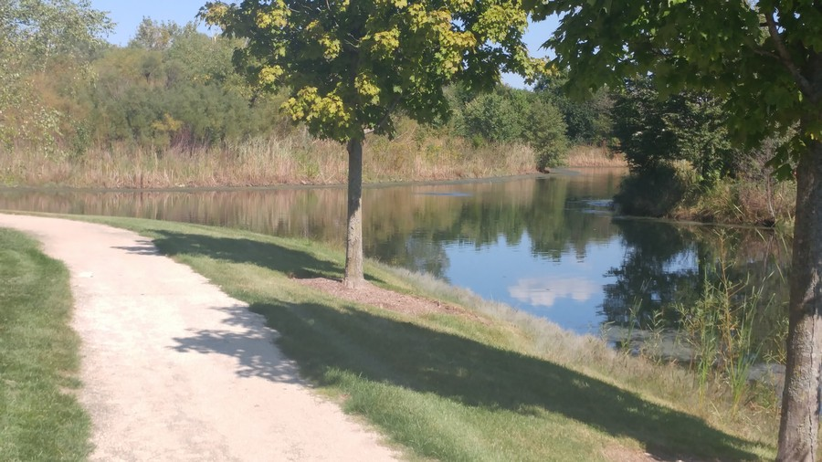 Real Estate Photography - 22220 N. PRAIRIE Lane, Kildeer, IL, 60047 - Nature trail and ponds across street