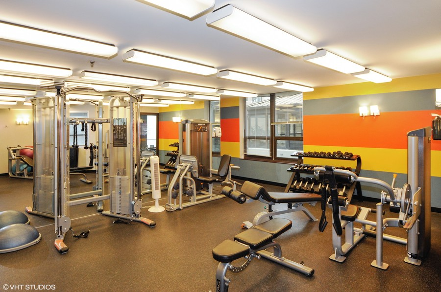 Real Estate Photography - 400 E Ohio, 4802, Chicago, IL, 60611 - Exercise Room