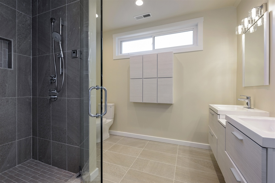 Real Estate Photography - 2125 W. Greenleaf Avenue, Chicago, IL, 60645 - Master Bathroom