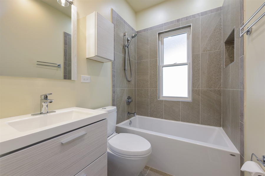 Real Estate Photography - 2125 W. Greenleaf Avenue, Chicago, IL, 60645 - 2nd Bathroom