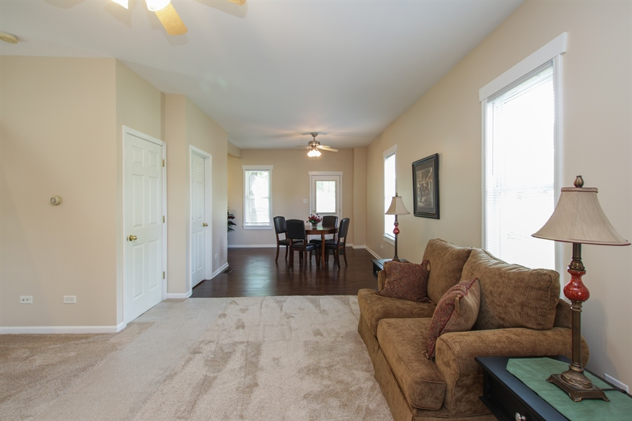 Real Estate Photography - 621 E. Jackson Street, Morris, IL, 60450 - Living Room / Dining Room