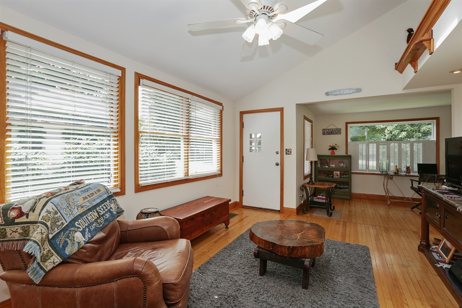 Real Estate Photography - 117 Grove Avenue, Fox River Grove, IL, 60021 - Living Room