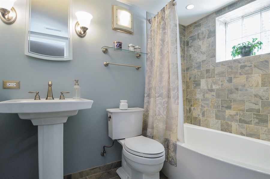 Real Estate Photography - 437 Carleton Avenue, Glen Ellyn, IL, 60137 - 2nd Bathroom