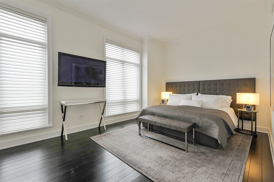 Real Estate Photography - 2550 N. Lakeview Avenue, Unit N1105-6, Chicago, IL, 60614 - Master Bedroom