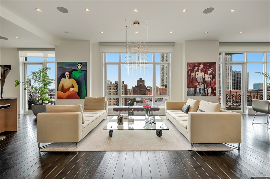 Real Estate Photography - 2550 N. Lakeview Avenue, Unit N1105-6, Chicago, IL, 60614 - Living Room
