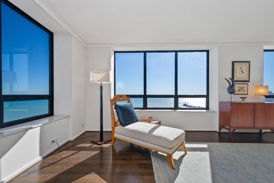 Real Estate Photography - 180 E. Pearson Street, Unit 4404, Chicago, IL, 60611 - Living Room